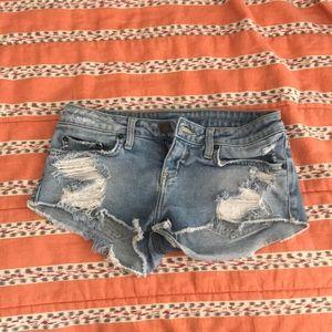 mini jean shorts